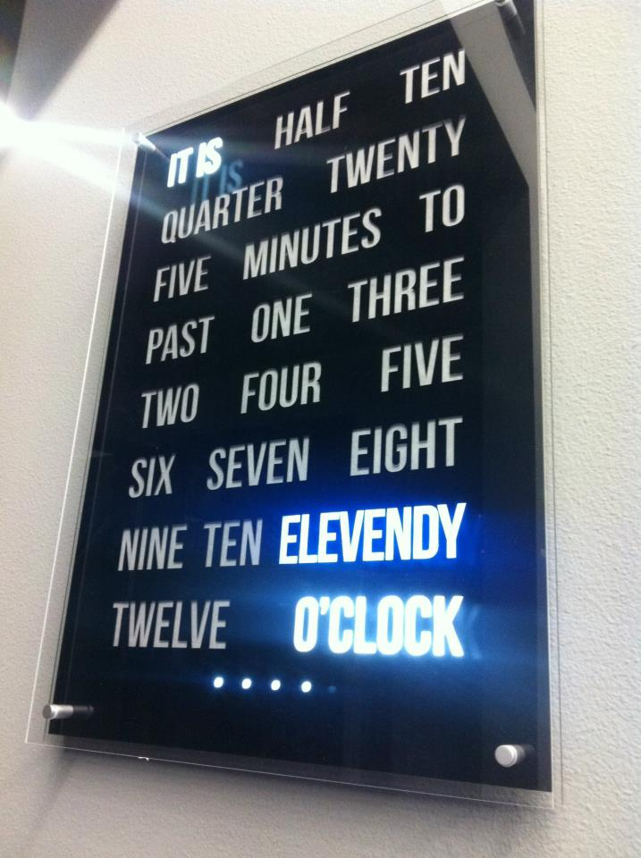 Customised 50x50 Clock made for elevendy.comCustomised 50x50 Clock made for elevendy.com